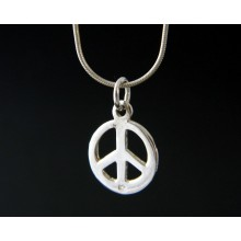 Pendentif peace and love argent.