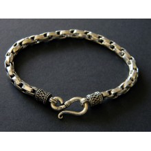 Snake chaine argent homme.